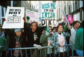 protests at new york u0027s st patrick u0027s day parade through the
