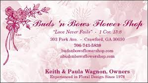about us buds n bows flower shop ga