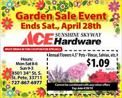 ace hardware annual report garden sale event sunshine skyway ace hardware