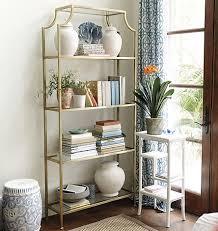 Ballard Bookcase High Fashion Home Chloe Gold Etagere Copycatchic