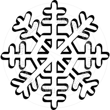 cartoon snowflake vector illustration by clip art guy toon