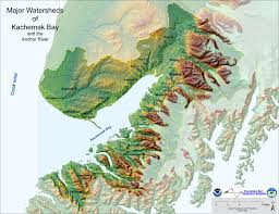 Alaska Rivers Map by Map Of Major Watersheds Of Kachemak Bay And Anchor River Kbnerr