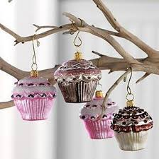gorgeous cupcake ornaments decorations for holidays