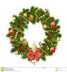 christmas wreath on white background xmas decorations royalty