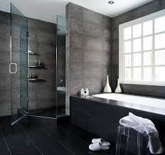Designer Bathroom Wallpaper Black Tile Bathroom Zamp Co