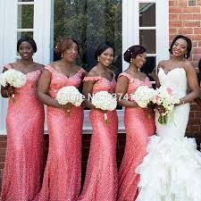 coral and gold bridesmaid dresses sequins mermaid coral sparkly bridesmaid dresses with