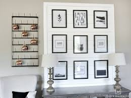 rustic black and white gallery wall taryn whiteaker