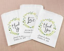 personalized goodie bags personalized botanical white goodie bags set of 12