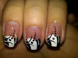 white tips on nails with design image collections nail art designs