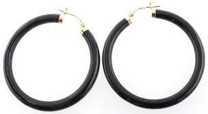 onyx earrings 10k yellow gold black onyx earrings 14248