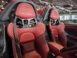 porsche red interior red porsche 918 spyder weissach even stands out in dubai