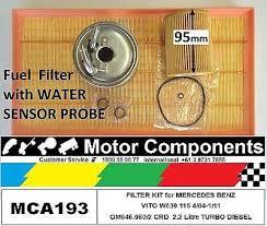 mercedes service f filter kit for mercedes vito w639 115 om646 980 2 2 2l turbo