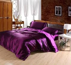 King Size Silk Comforter Violet Silk Fitted Sheet Cheap Bedding Sets Purple Bedding And
