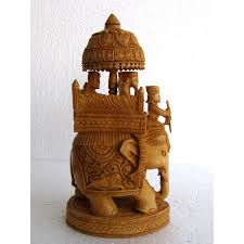 Home Decoration Items Online India Home Decor U0026 Handicrafts Wooden Elephant Figurine Online