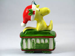 woodstock on cable car ornament snoopn4pnuts