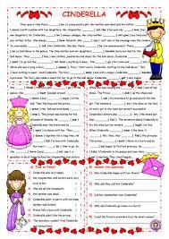 22 free esl cinderella worksheets