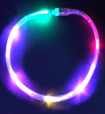 multi color light up necklace uses led lights