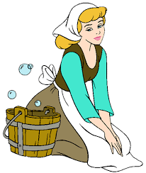 cinderella cleaning clipart
