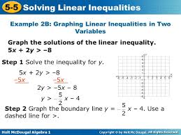 warm up graph each inequality 1 x u003e u2013 y ppt video online download