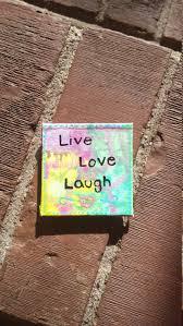 kitchen refrigerator magnet live love laugh boho decor bohemian