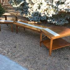 mid century coffee table and end tables lane tile coffee table