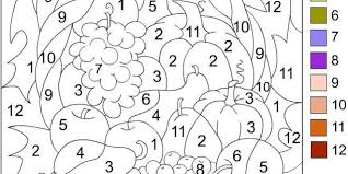 thanksgiving coloring pages number worksheet pages