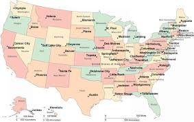 us map states and capitals map of usa with state capitals map travel