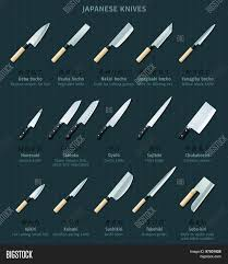 kitchen knives names japanese kitchen knives names vector photo bigstock