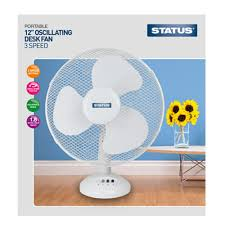 12 inch 3 speed oscillating fan 12 inch desk fan 3 speed settings white status at wilko com