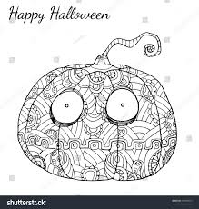 pumpkin zentangle vector halloweenpumpkin vector by stock vector