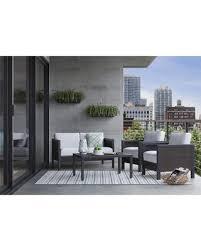 bargains on bryant 4 pc faux wood patio furniture set threshold
