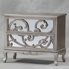 Black And Silver Bedroom Furniture by Luxury And Antique Silver Mirror Fronted Rococo Large Chest Of