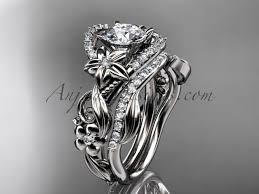 flower rings images Diamond engagement ring set white gold flower ring adlr211s jpg