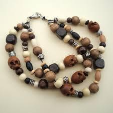 bracelet skull beads images Men 39 s pirate style wooden skull bead bracelet pirate treasures jpg