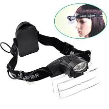 magnifying l with light lighted magnifying head l magnifier glasses visor with led light