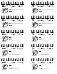 Printable Bathroom Passes 60 Best Classroom Images On Pinterest Teaching Ideas Teaching