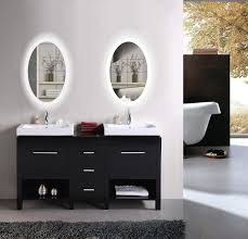 bathrooms design led oval bathroom mirror lighted with dimmer