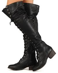 s lace up combat boots size 12 breckelle alabama 12 leatherette lace up knee