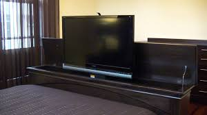 Bedroom Furniture With Hidden Compartments Tv Lift Foot Board Youtube
