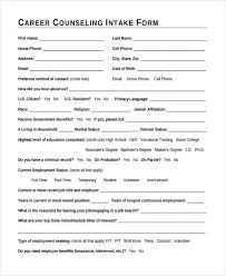 Counseling Intake Form 38 Counseling Forms In Pdf