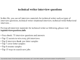How To Prepare Resume For Job Interview Technical Writer Interview Questions