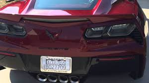 2016 corvette long beach red metallic color up close view for the