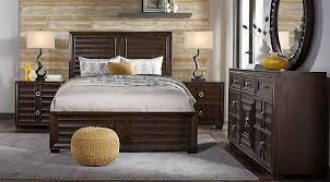 cindy crawford bedroom set cindy crawford home michigan avenue brown 5 pc queen panel bedroom