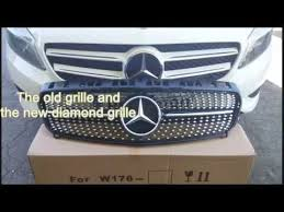 mercedes grill mercedes front grille installation w176 cheap way