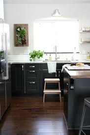 Fine Ikea Kitchen Black Cabinets White Pendant Lamp And Wooden - Ikea black kitchen cabinets