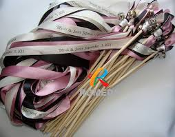 personalized wedding ribbon printing name and date personalized wedding ribbon stick ribbon