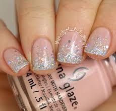 wedding wednesday silver glitter gradient the nail polish