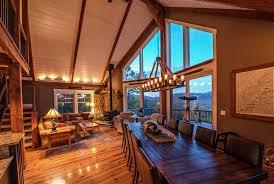 moose ridge lodge open concept moose and beams
