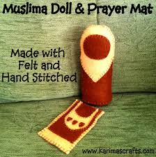 karima u0027s crafts felt muslim doll and prayer mat tutorial kids