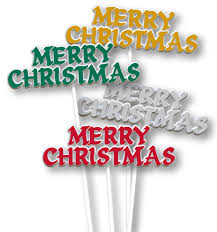 christmas picks luftballoons 4 inch merry christmas floral 12pk cakedrake